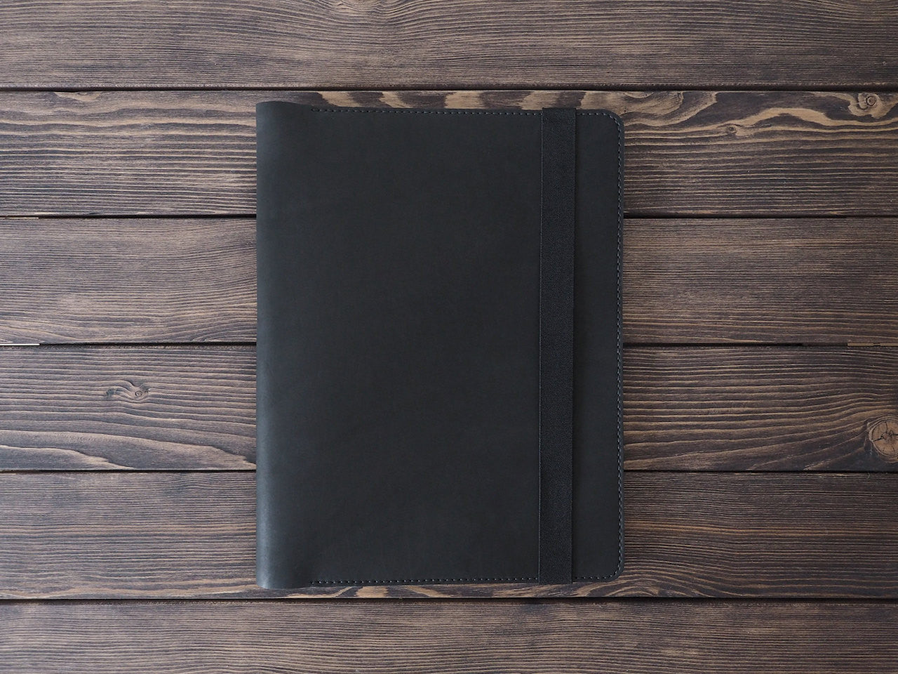 "iPad Pro 12.9"" Leather Folio in Black - Handmade by INSIDE on Jetset Times SHOP"