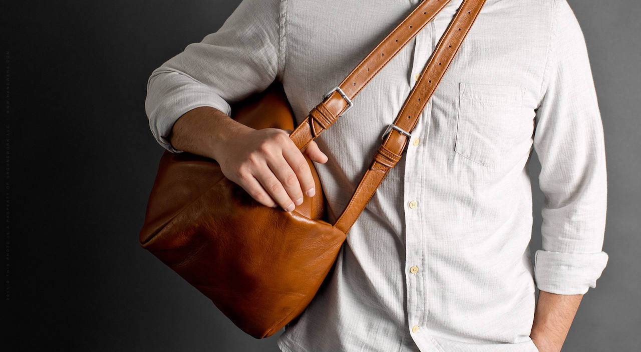 Leather Travel Duffel Bag - Pilgrim in Brown by HANDWERS on Jetset Times SHOp