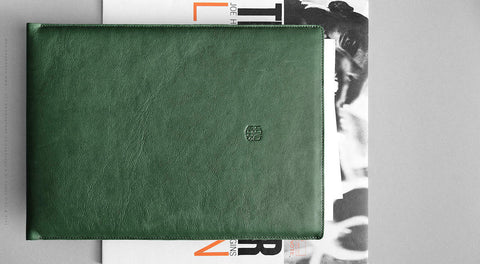 Leather Macbook/MacBook Air/MacBook Pro Sleeve - Hike in Green