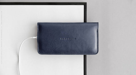 Leather iPhone/iPhone Plus Bifold Wallet - Ranch in Blue