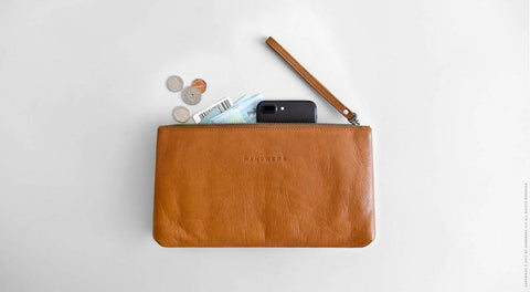 Leather Travel Pouch Case - Yukon in Brown