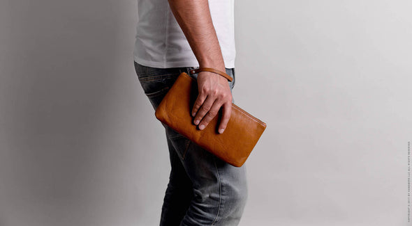 Leather Travel Pouch Case - Yukon in Brown by HANDWERS on Jetset Times SHOP