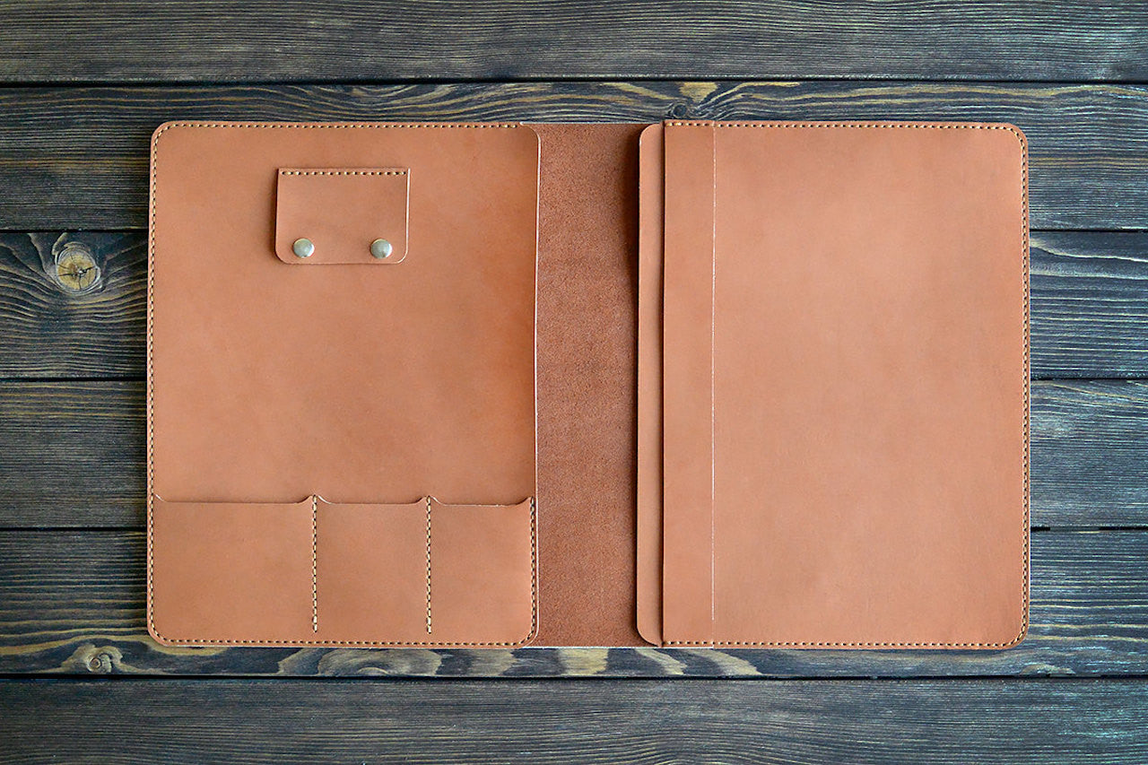 "iPad Pro 12.9"" Leather Folio in Brown - Handmade by INSIDE on Jetset Times SHOP"
