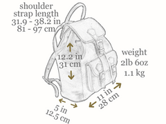 Women's Leather Backpack - Jane Eyre by Time Resistance on Jetset Times SHOP