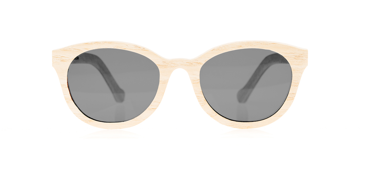 Wood Sunglasses for Men and Women - Ashwood with Dark Grey Lenses by BREVNO on Jetset Times SHOP