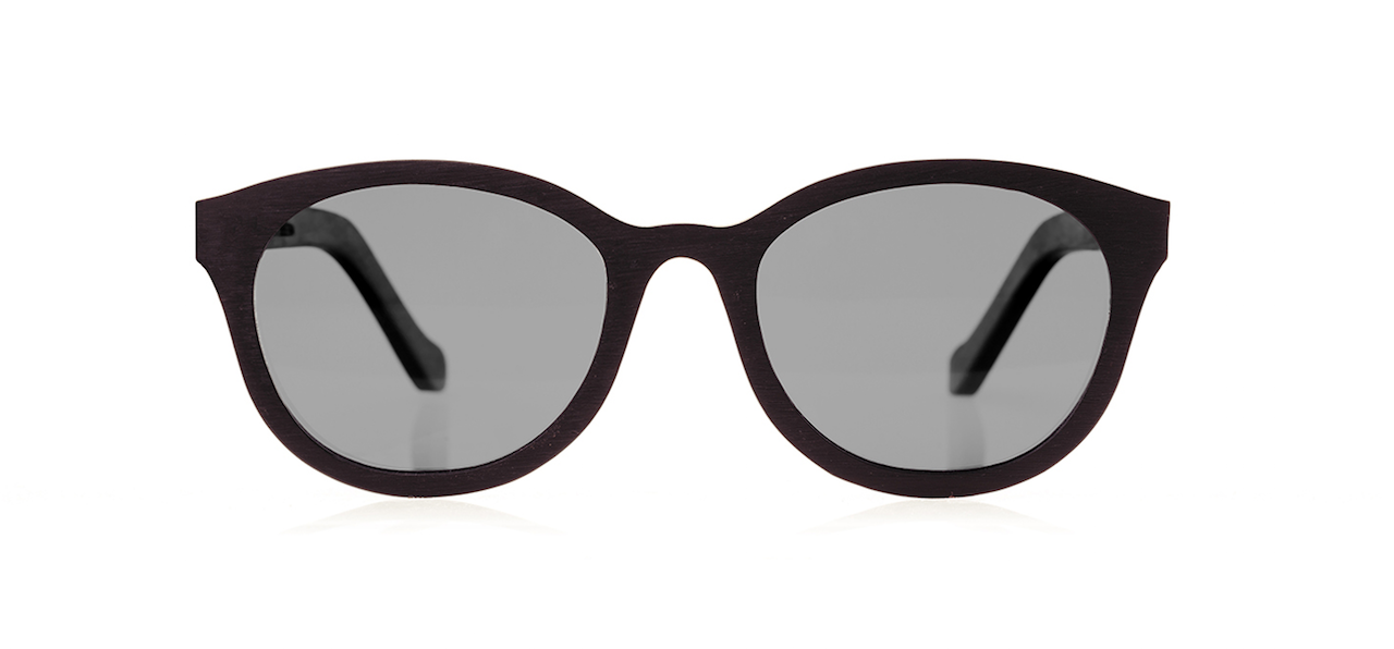 Wood Sunglasses for Men and Women - Black Hornbeam with Dark Grey Lenses by BREVNO on Jetset Times SHOP