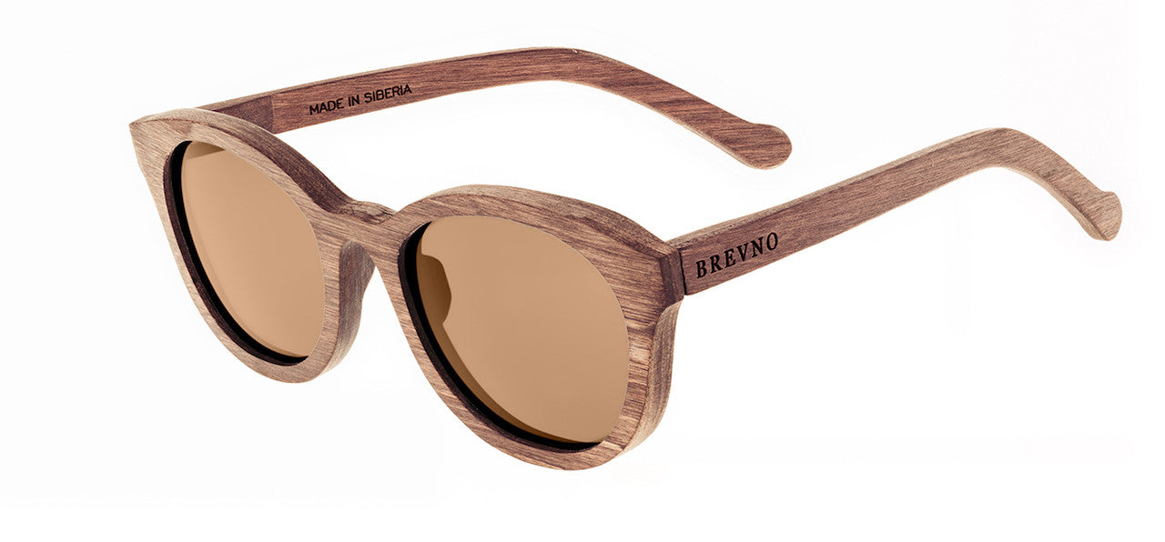 Wood Sunglasses for Men and Women - Birchwood with Brown Lenses by BREVNO on Jetset Times SHOP