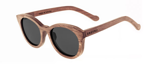 Wood Sunglasses for Men and Women - Birchwood with Dark Grey Lenses by BREVNO on Jetset Times SHOP