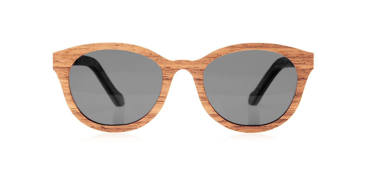 Wood Sunglasses for Men and Women - Walnut with Dark Grey Lenses by BREVNO on Jetset Times SHOP