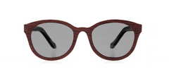 Wood Sunglasses for Men and Women - Wenge with Dark Grey Lenses by BREVNO on Jetset Times SHOP