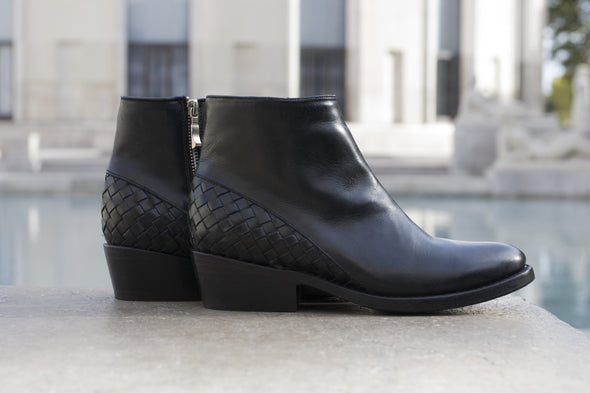 Women's Black Leather Ankle Boots - MAZAMITLA by TapatÌ_a on Jetset Times SHOP