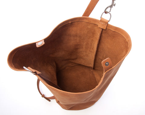 Leather Duffel Bag Brown