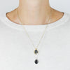 Agate & Diamond Pendant Necklace