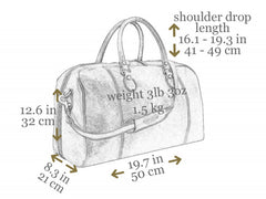 Leather Duffel Bag - The Count of Monte Cristo for Men and Women by Time Resistance on Jetset Times SHOP