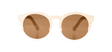 Wood Sunglasses for Men and Women - Ashwood with Brown Lenses by BREVNO on Jetset Times SHOP