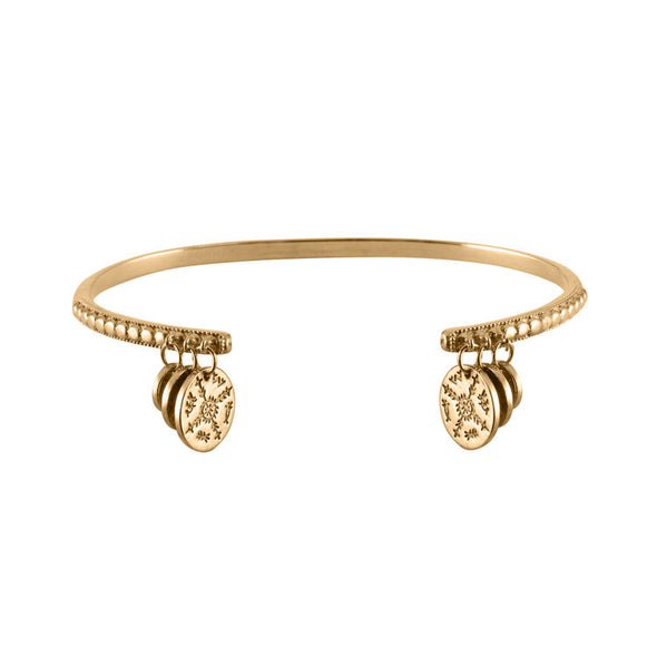Women's Sami Coin Bangle - Gold Vermeil by No 13 on Jetset Times SHOP
