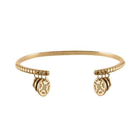 Women's Sami Coin Bangle - Gold Vermeil