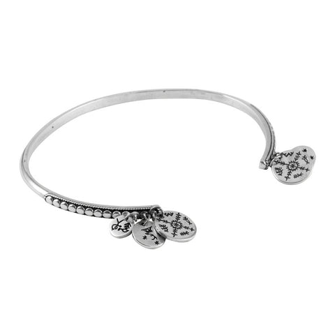 Women's Sami Coin Bangle - Silver
