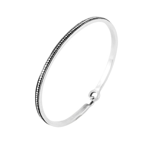 Women's Sami Gagnef Patterned Bangle - Silver