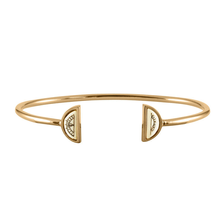Women's Sami Sun & Moon Bangle - Gold Vermeil by No 13 on Jetset Times SHOP