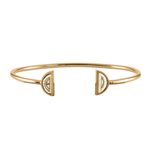 Women's Sami Sun & Moon Bangle - Gold Vermeil