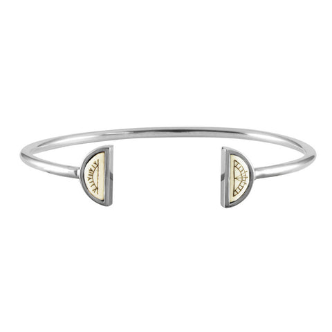 Women's Sami Sun & Moon Bangle - Silver
