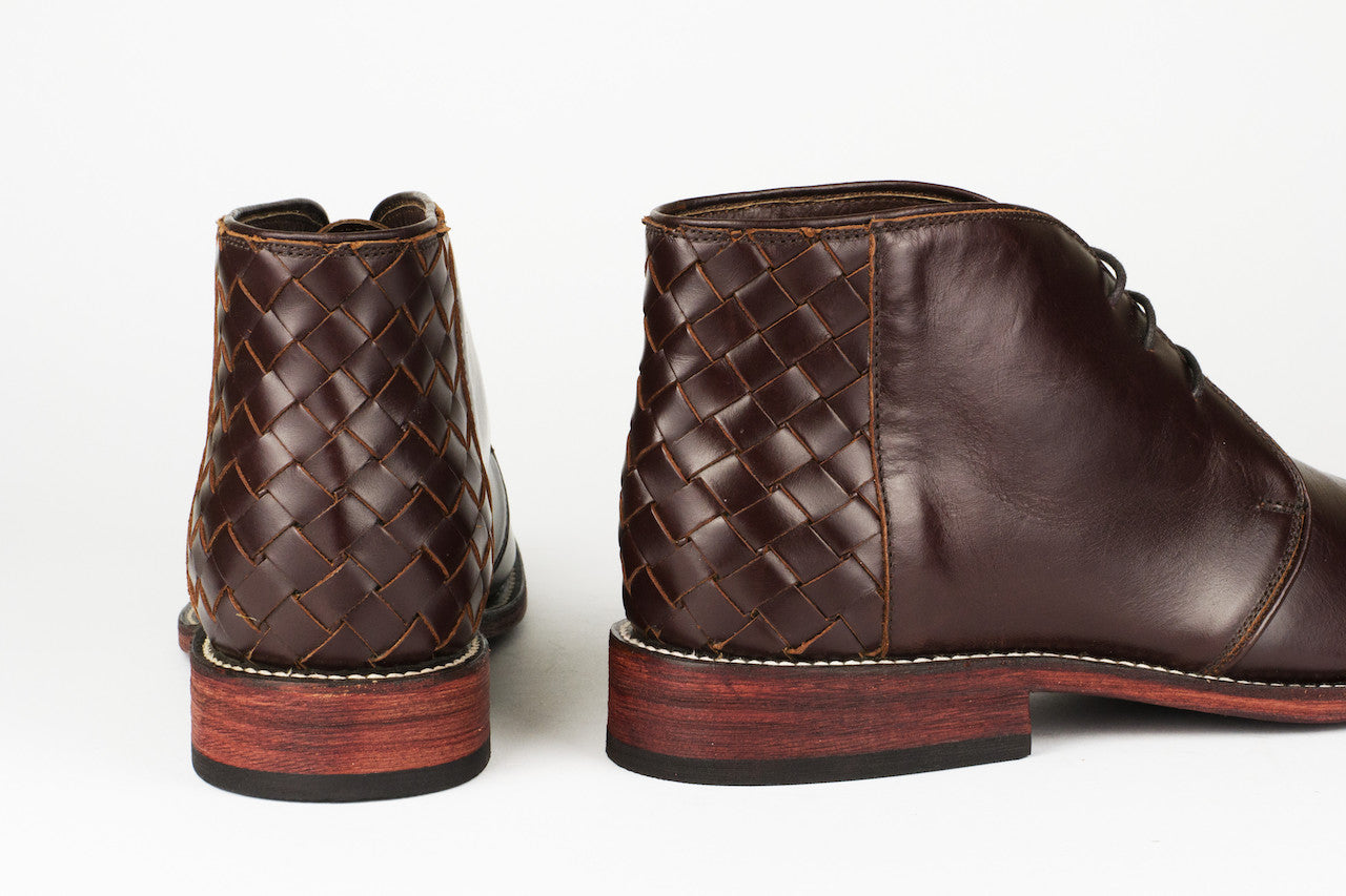 Men's Burgundy Leather Ankle Boots - TAPALPA by TapatÌ_a on Jetset Times SHOP