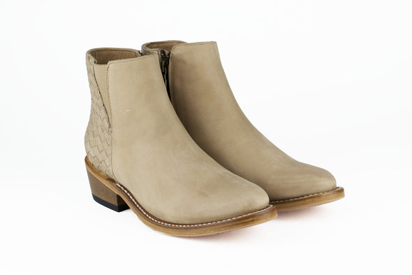 Women's Beige Leather Ankle Boots - TAPALPA by TapatÌ_a on Jetset Times SHOP