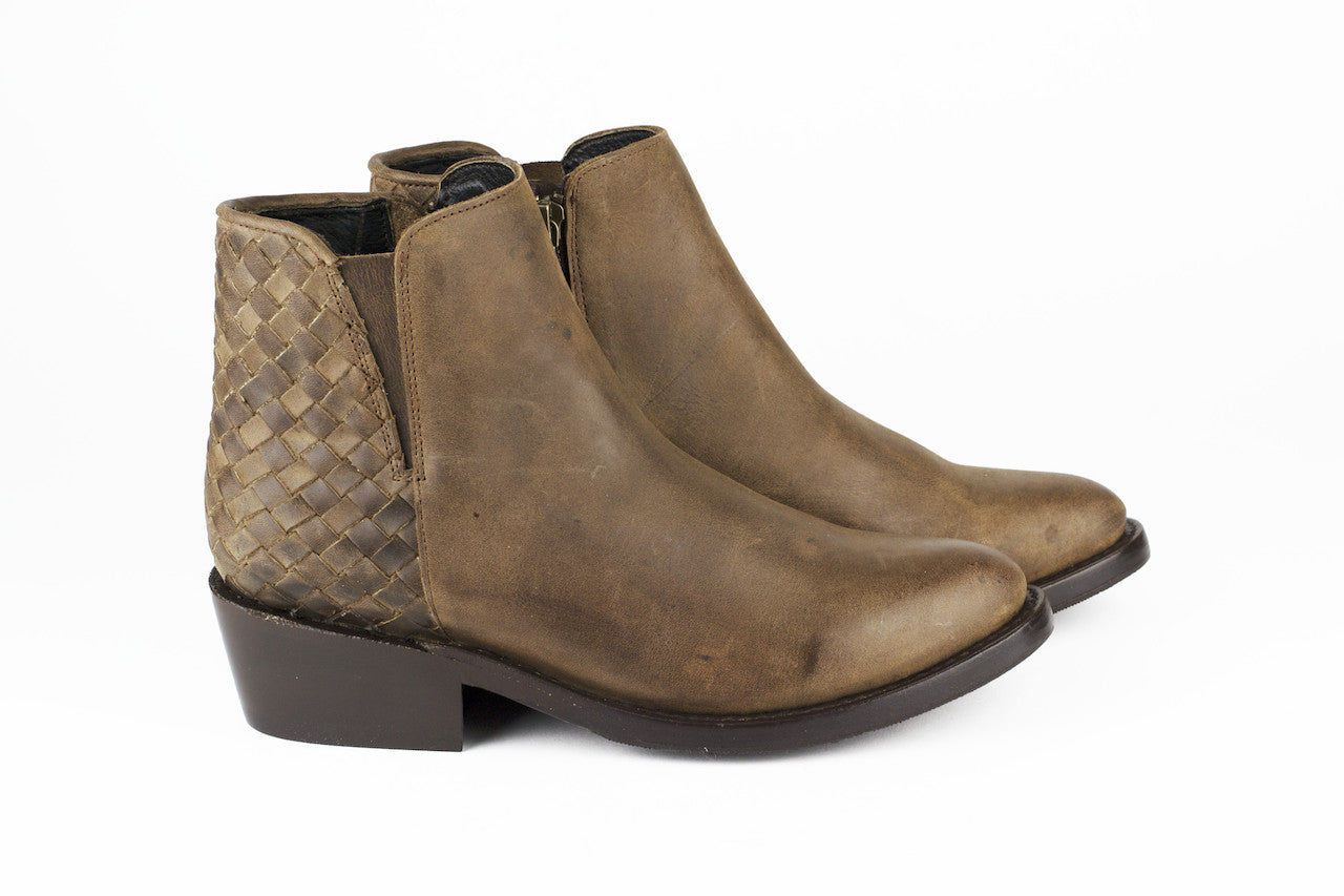 Women's Brown Leather Ankle Boots - TAPALPA by TapatÌ_a on Jetset Times SHOP