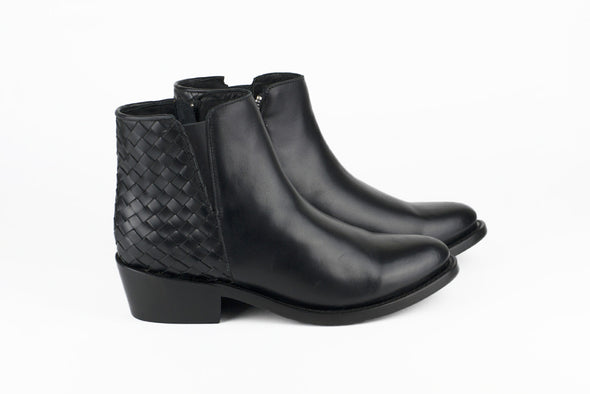 Women's Black Leather Ankle Boots - TAPALPA by TapatÌ_a on Jetset Times SHOP