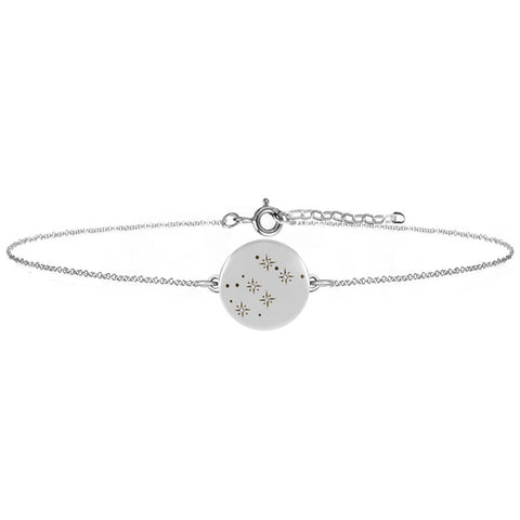 Women's Zodiac Constellation Bracelet - Diamonds & Silver