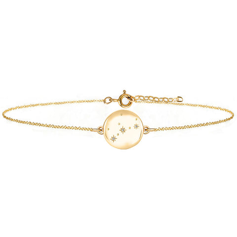 Women's Zodiac Constellation Bracelet - 9ct Solid Gold & Diamonds
