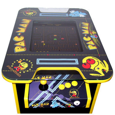 Pac Man themed cocktail arcade table