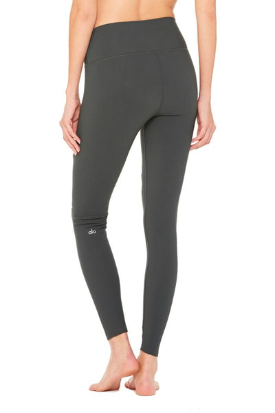 ALO HIGH WAISTED RIPPED WARRIOR LEGGING ANTHRACITE