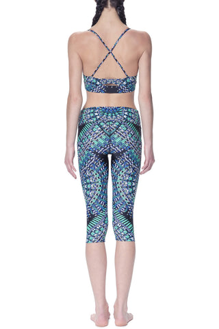 SKYBIRD BLACK CAPRI LEGGINGS