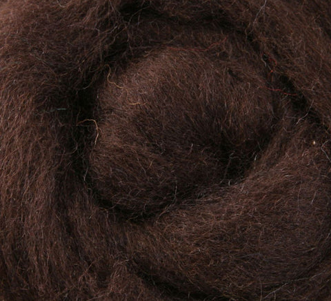 Chocolate NZ Corriedale Wool Roving