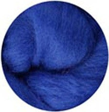 Blue NZ Corriedale Wool Roving - Happy Hedgehog Post