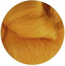 Butterscotch NZ Corriedale Wool Roving - Happy Hedgehog Post