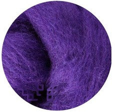 Purple NZ Corriedale Wool Roving - Happy Hedgehog Post