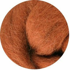 Toffee NZ Corriedale Wool Roving - Happy Hedgehog Post