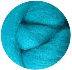 Turquoise NZ Corriedale Wool Roving - Happy Hedgehog Post