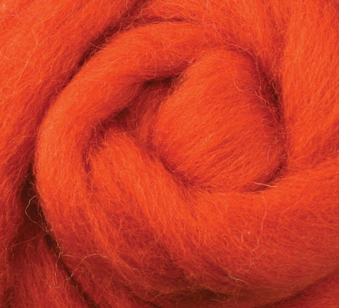 Pumpkin Pie NZ Corriedale Wool Roving