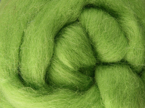 Lime NZ Corriedale Wool Roving