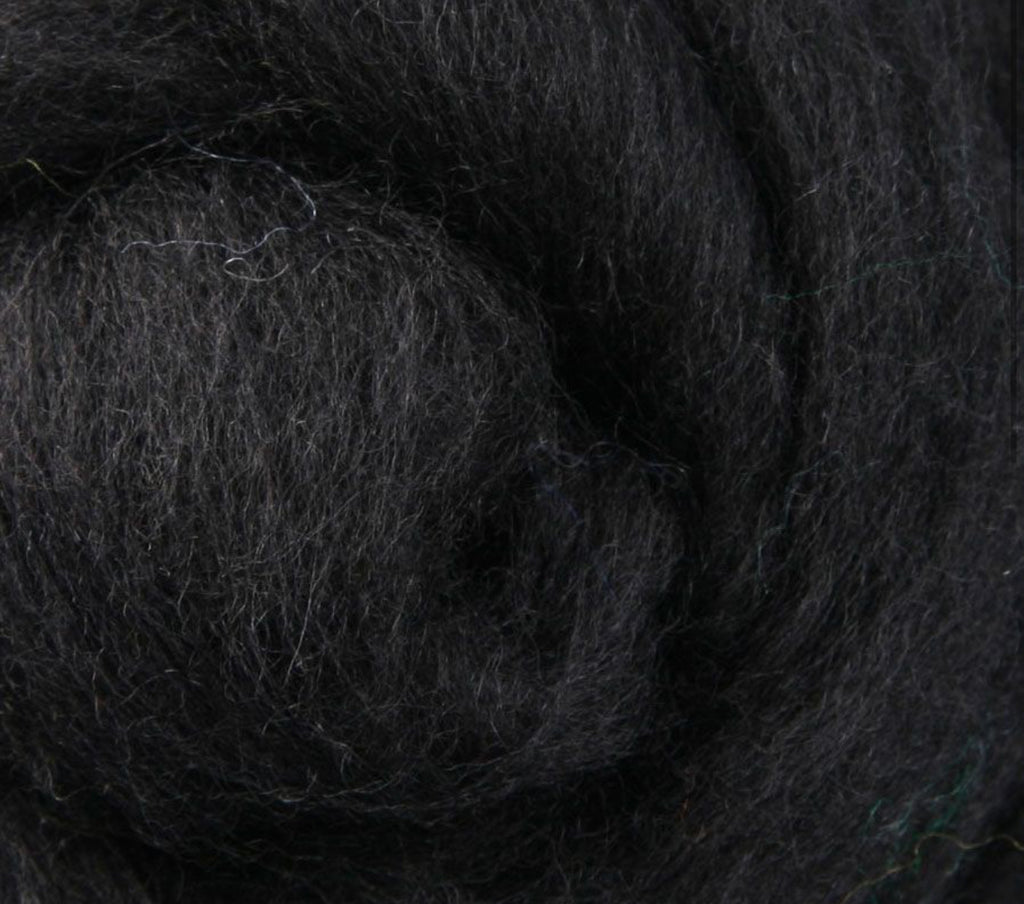 Licorice NZ Corriedale Wool Roving