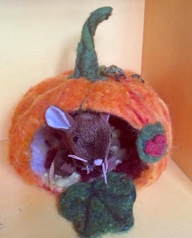 Preorder Wet Felted Pumpkin House Kit