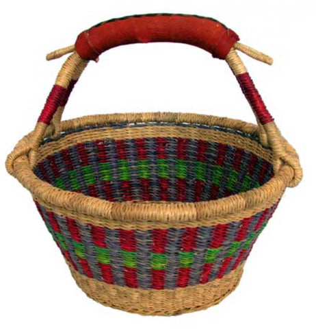 PREORDER Large Fruit Basket with Leather handle