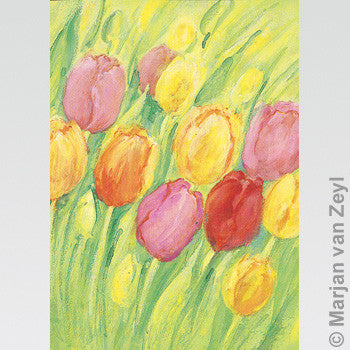 Tulips Postcard - Happy Hedgehog Post
