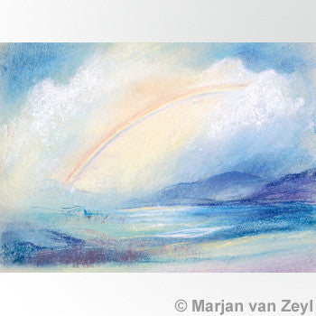 Rainbow in Landscape Postcard - Happy Hedgehog Post