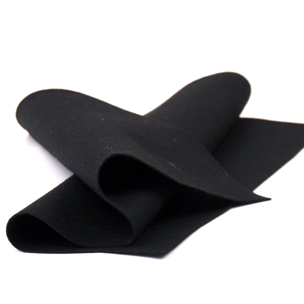 Black Merino Wool Felt Sheet