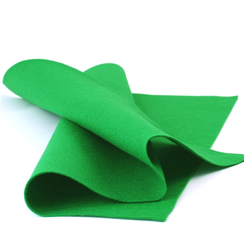 Clover Green Merino Wool Felt Sheet